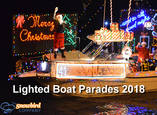 Celebrate the 2018 Holidays at a Lighted Boat Parade